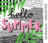 hello summer. cute card with...   Shutterstock .eps vector #1066107455