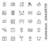hotel outline icons set. linear ... | Shutterstock .eps vector #1066109759