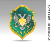 coat of arms with bird | Shutterstock .eps vector #106611149