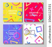 covers with gradient... | Shutterstock .eps vector #1066112531