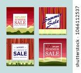 summer sale background  banners ...   Shutterstock .eps vector #1066112537