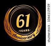 61 years anniversary.... | Shutterstock .eps vector #1066115939
