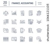 financial accounting flat line... | Shutterstock .eps vector #1066121105