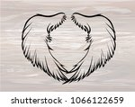 wings. vector illustration on... | Shutterstock .eps vector #1066122659