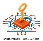 web security access isometric... | Shutterstock .eps vector #1066124585