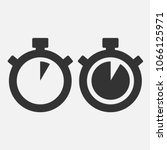 stopwatch vector icon on gray... | Shutterstock .eps vector #1066125971