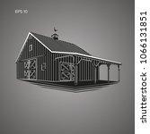 wooden barn vector illustration.... | Shutterstock .eps vector #1066131851