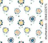 seamless hand drawn doodle... | Shutterstock . vector #1066132571
