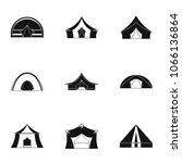 travel tent form icon set.... | Shutterstock . vector #1066136864