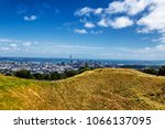 auckland city skyline view and... | Shutterstock . vector #1066137095