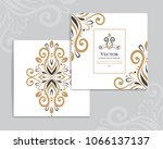 gold and white vintage greeting ... | Shutterstock .eps vector #1066137137