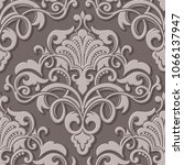 vector volumetric damask... | Shutterstock .eps vector #1066137947
