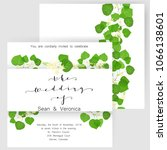 save the date card  wedding... | Shutterstock .eps vector #1066138601