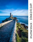 Small photo of View of Lighthouse of Petit Minou in Brittany in France