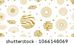 abstract background with asian... | Shutterstock .eps vector #1066148069