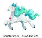 little cute cartoon flying... | Shutterstock .eps vector #1066151921