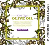 olive oil bottle label with... | Shutterstock .eps vector #1066156097