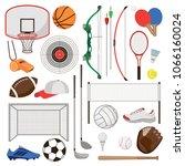 summer sports. sports equipment.... | Shutterstock .eps vector #1066160024