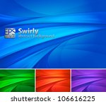 Swirly Abstract Background. A...