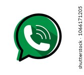 phone icon in a speech bubble... | Shutterstock .eps vector #1066171205