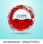 creative blood donor day...   Shutterstock .eps vector #1066174511