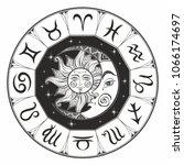 zodiac.  astrological symbol.... | Shutterstock .eps vector #1066174697