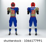 3d realistic of font and back... | Shutterstock .eps vector #1066177991