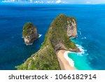 manta bay  kelingking beach ... | Shutterstock . vector #1066182914