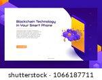 concept  of isometric... | Shutterstock .eps vector #1066187711