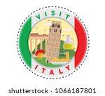 circular italy tourism fashion... | Shutterstock .eps vector #1066187801