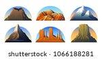 mountains peaks  landscape... | Shutterstock .eps vector #1066188281
