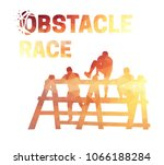 silhouettes of  people... | Shutterstock .eps vector #1066188284