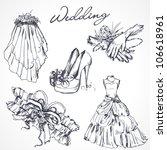 wedding design elements | Shutterstock .eps vector #106618961