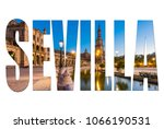 sevilla letters isolated with... | Shutterstock . vector #1066190531