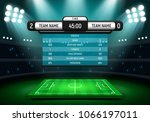 scoreboard and soccer field... | Shutterstock .eps vector #1066197011