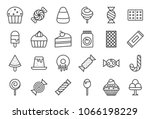 sweets and candy icon set 2 2 ... | Shutterstock .eps vector #1066198229