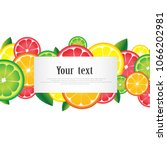 citrus fruits with white space... | Shutterstock .eps vector #1066202981