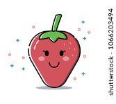 strawberry cute icon | Shutterstock .eps vector #1066203494
