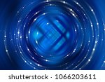 abstract background blue light... | Shutterstock . vector #1066203611
