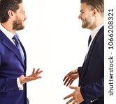 men in suits or businessmen... | Shutterstock . vector #1066208321