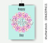 happy mother's day greeting... | Shutterstock .eps vector #1066209611