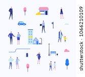 citizens   flat design style... | Shutterstock .eps vector #1066210109