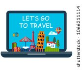 vector icon of online booking... | Shutterstock .eps vector #1066211114