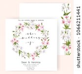save the date card  wedding... | Shutterstock .eps vector #1066211441