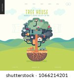 tree house concept   a tree... | Shutterstock .eps vector #1066214201