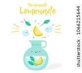 cute illustration homemade... | Shutterstock .eps vector #1066215644