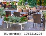 summer street cafe interior in...   Shutterstock . vector #1066216205