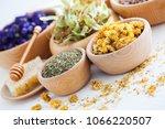 bowl full of cistus or rockrose ...   Shutterstock . vector #1066220507