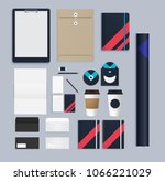 branding corporate identity... | Shutterstock .eps vector #1066221029