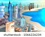 hi tech futuristic future smart ... | Shutterstock .eps vector #1066226234